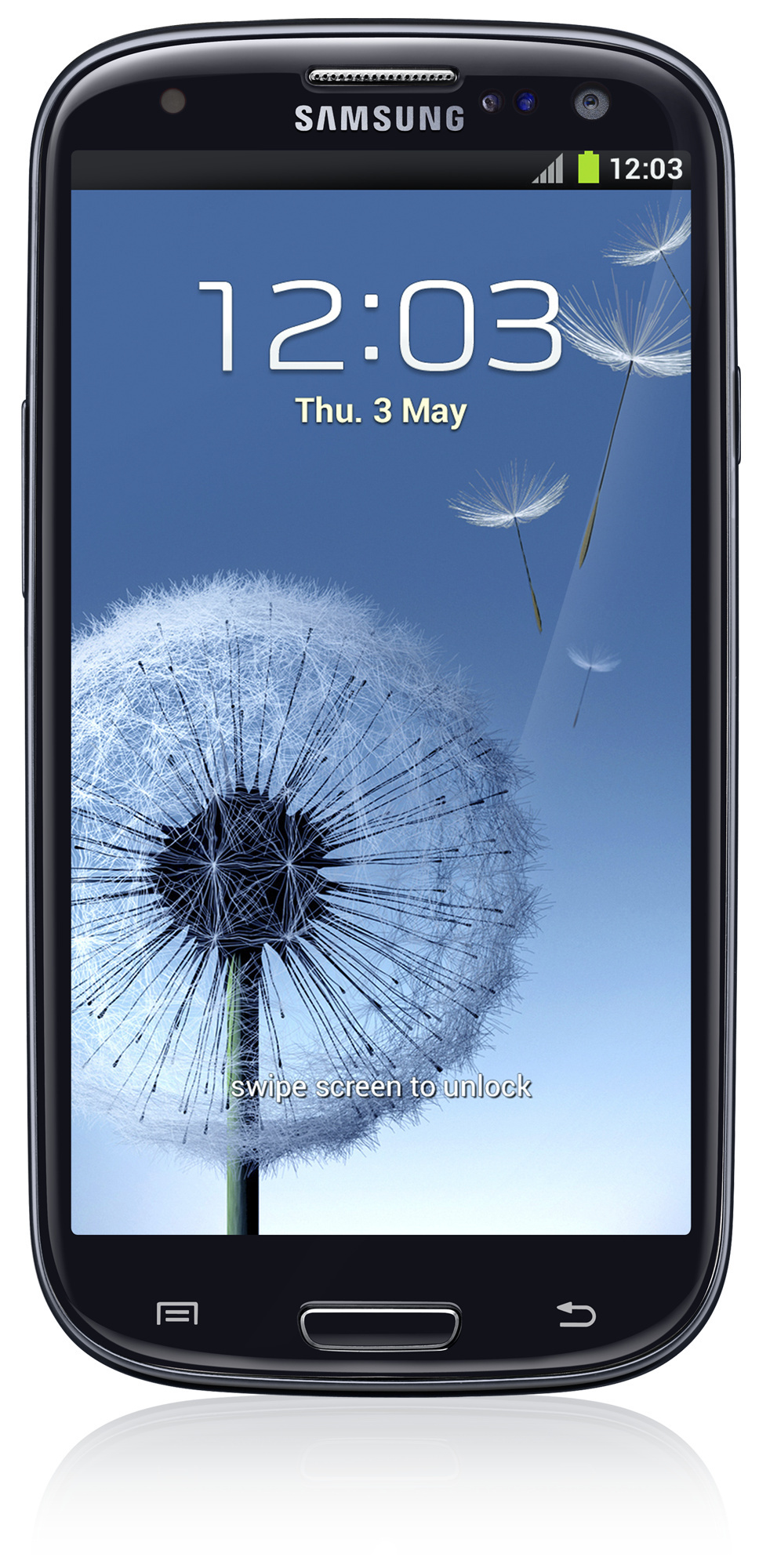 Samsung Galaxy S III 4G Android älypuhelin, musta.