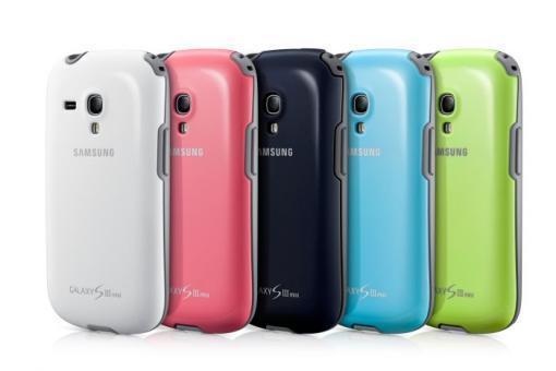 Samsung suojakuori Galaxy S III mini, vaaleansininen.