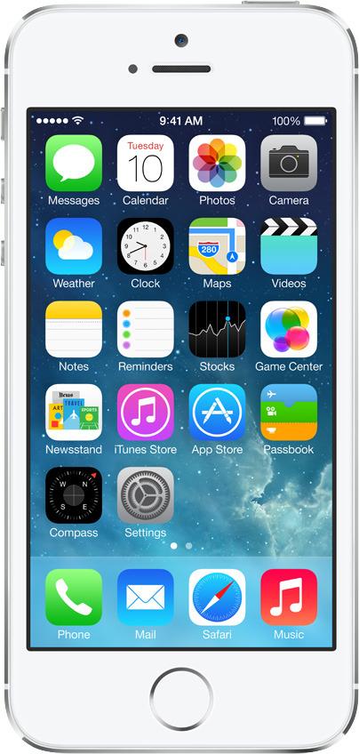Apple iPhone 5s 64GB, hopea (lukitsematon), ME439.