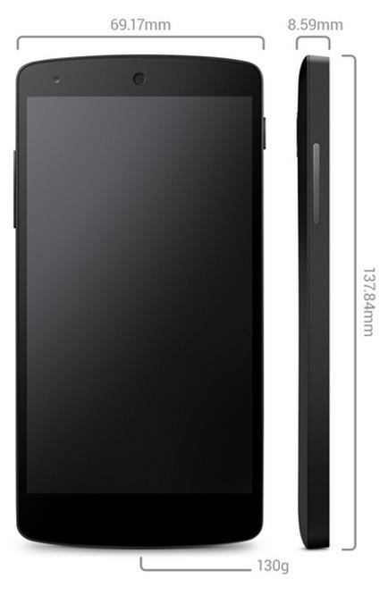 LG Google Nexus 5 Android puhelin (16 GB), musta.