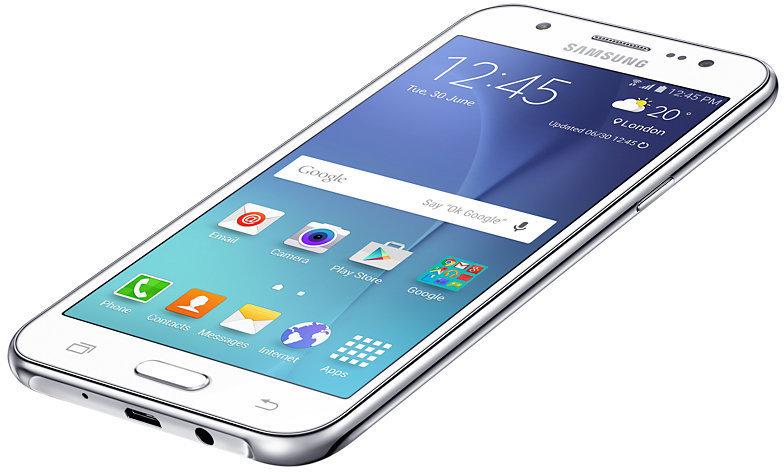 Samsung Galaxy J5 ‐Android-puhelin, valkoinen
