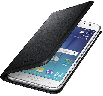 Samsung Galaxy J5 Flip Wallet ‐suojakansi, musta