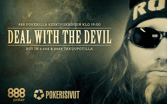 888poker: Deal with the Devil -striimiturnaus Suomalaisille!